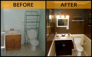 bathroom reno before after